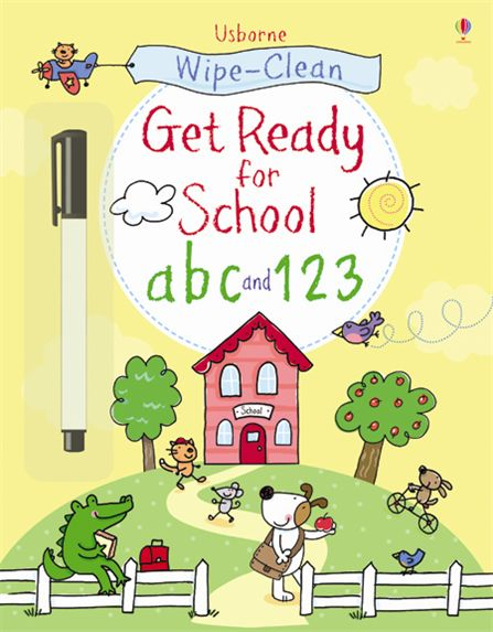 Usborne - Wipe Clean Get Ready For School Abc And 123 Pb