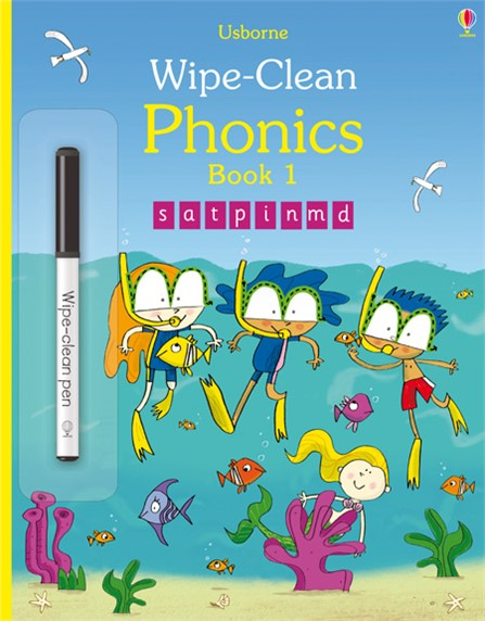 Usborne - Wipe Clean Phonics Book 1