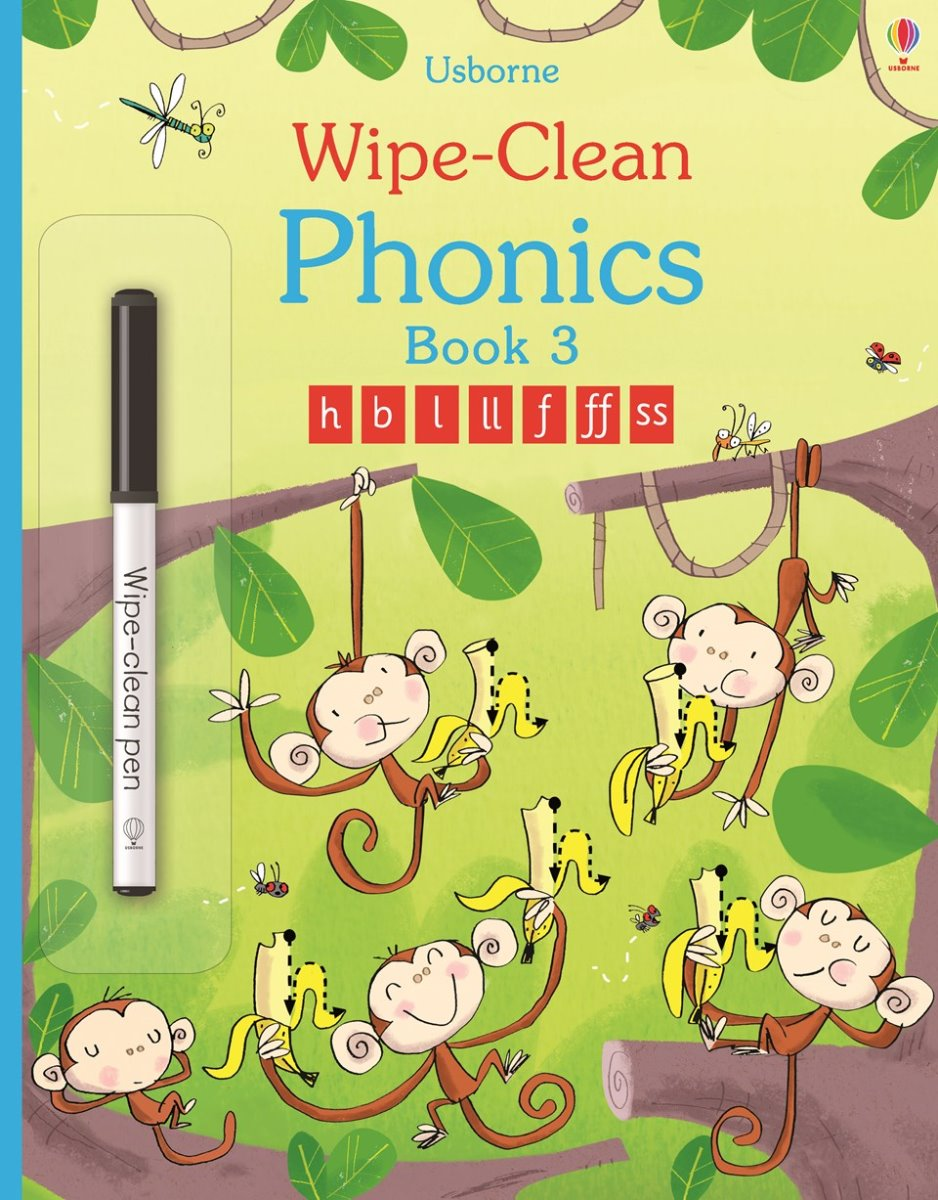 Usborne - Wipe Clean Phonics Book 3