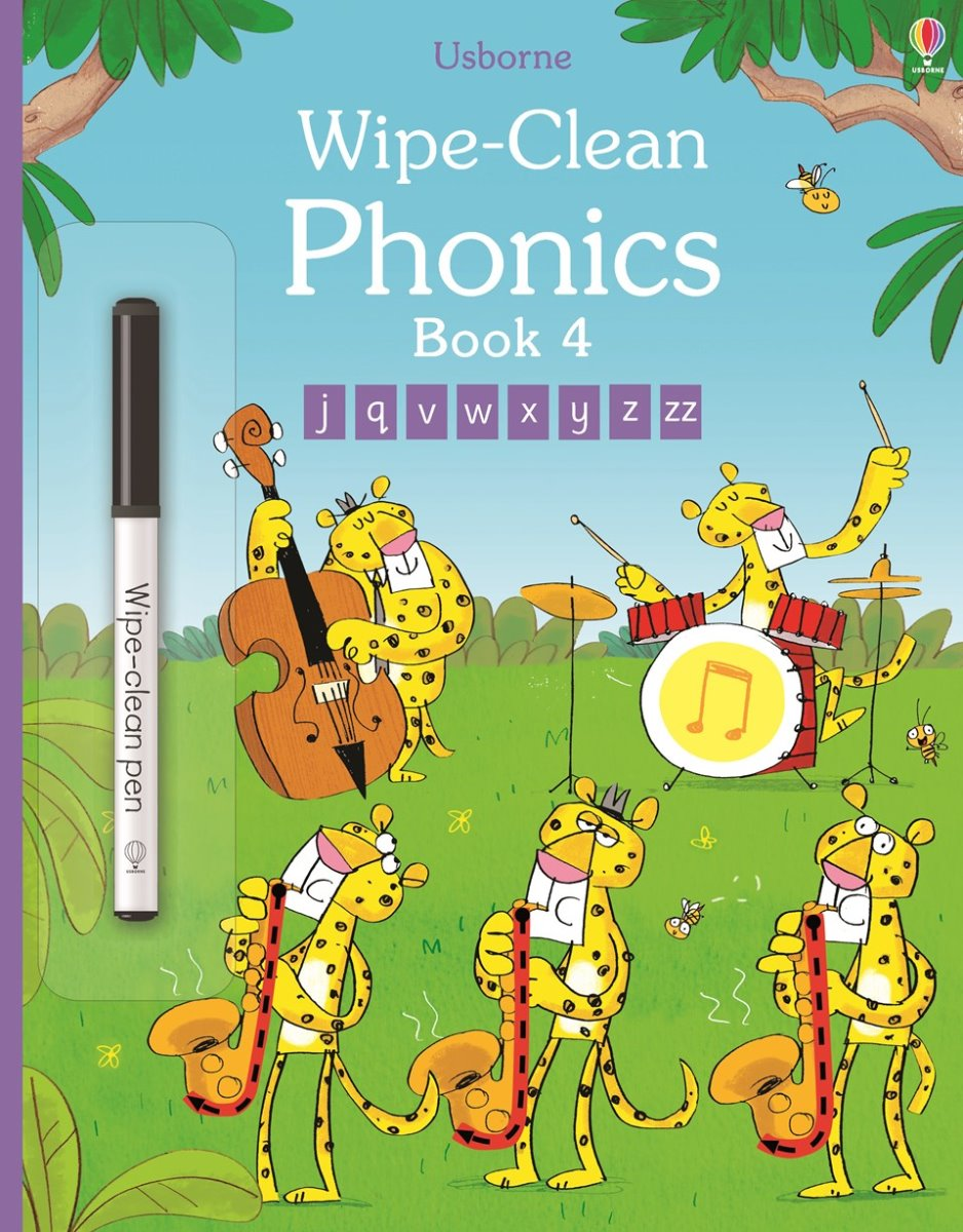Usborne - Wipe Clean Phonics Book 4