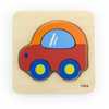 Viga Wooden Car Mini Puzzle