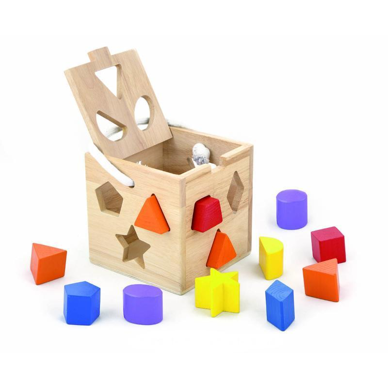 Viga Wooden Shape Sorting Cube