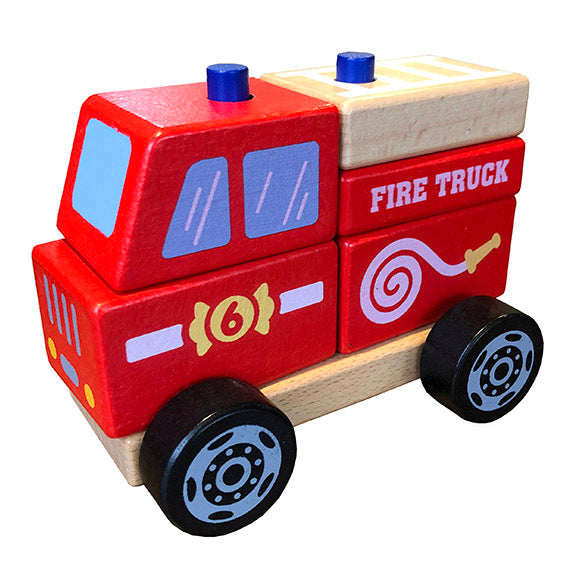 Viga Wooden Fire Truck at Little Sprout