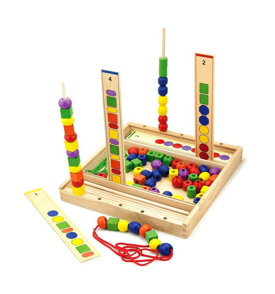 Viga Wooden Toys Sequencing and Threading Beads