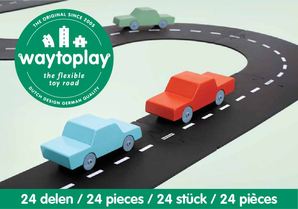 Waytoplay 24 Piece flexible toy road at Little Sprout