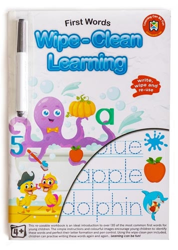 Learning Can Be Fun Wipe-Clean Learning First Words Educational Book