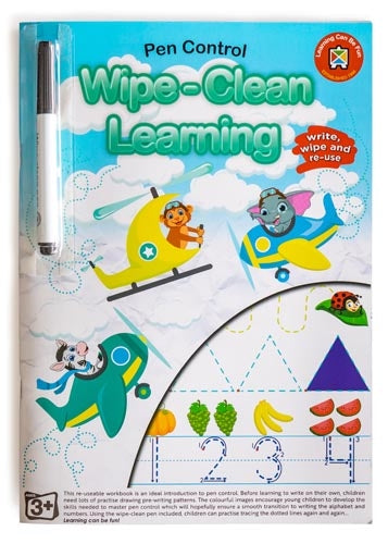 Learning Can Be Fun Wipe Clean Learning Pen Control Activity Book