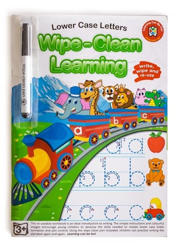 Learning Can Be Fun Wipe Clean Learning Lower Case Letters activity book