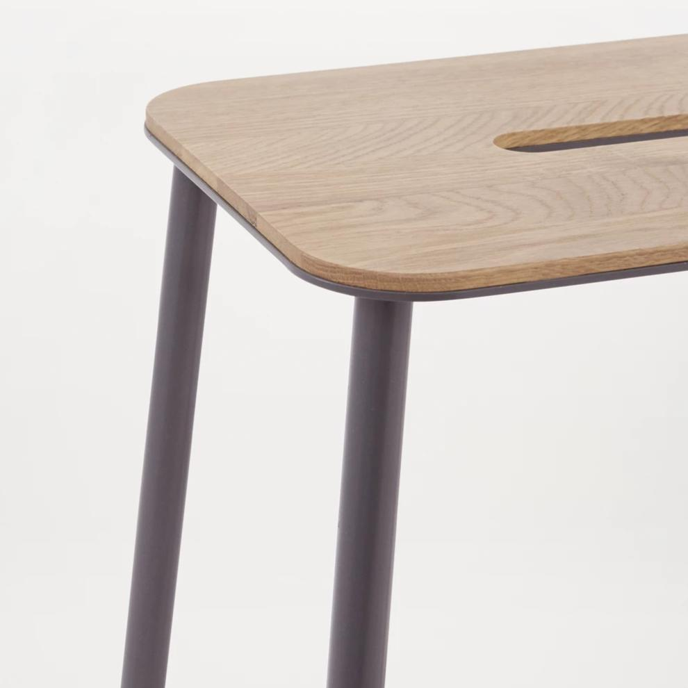 Adam Stool Oak|Grey