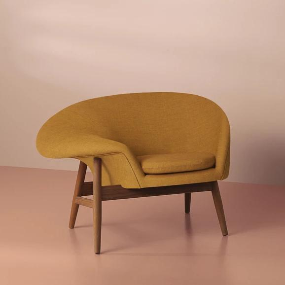 Fried Egg Lounge Chair Dark Ochre