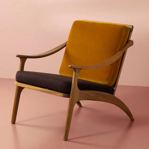 Lean Back Chair Teak Amber | Coffee Brown