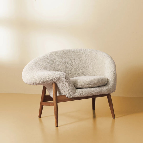 Fried Egg Lounge Chair White Sheepskin