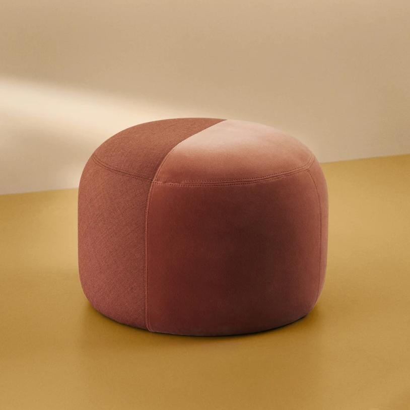 Dainty Pouffe Rusty Rose