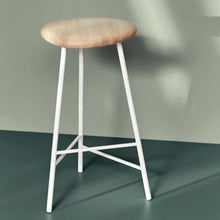 Load image into Gallery viewer, Pebble Stool Ash|White