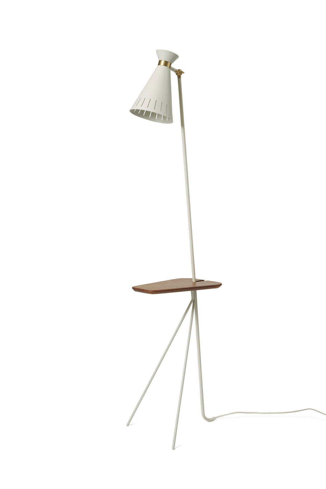 Cone Floor Lamp with Table Warm White
