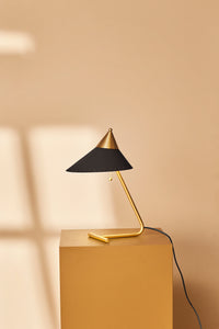 Brass Top Table Lamp Charcoal
