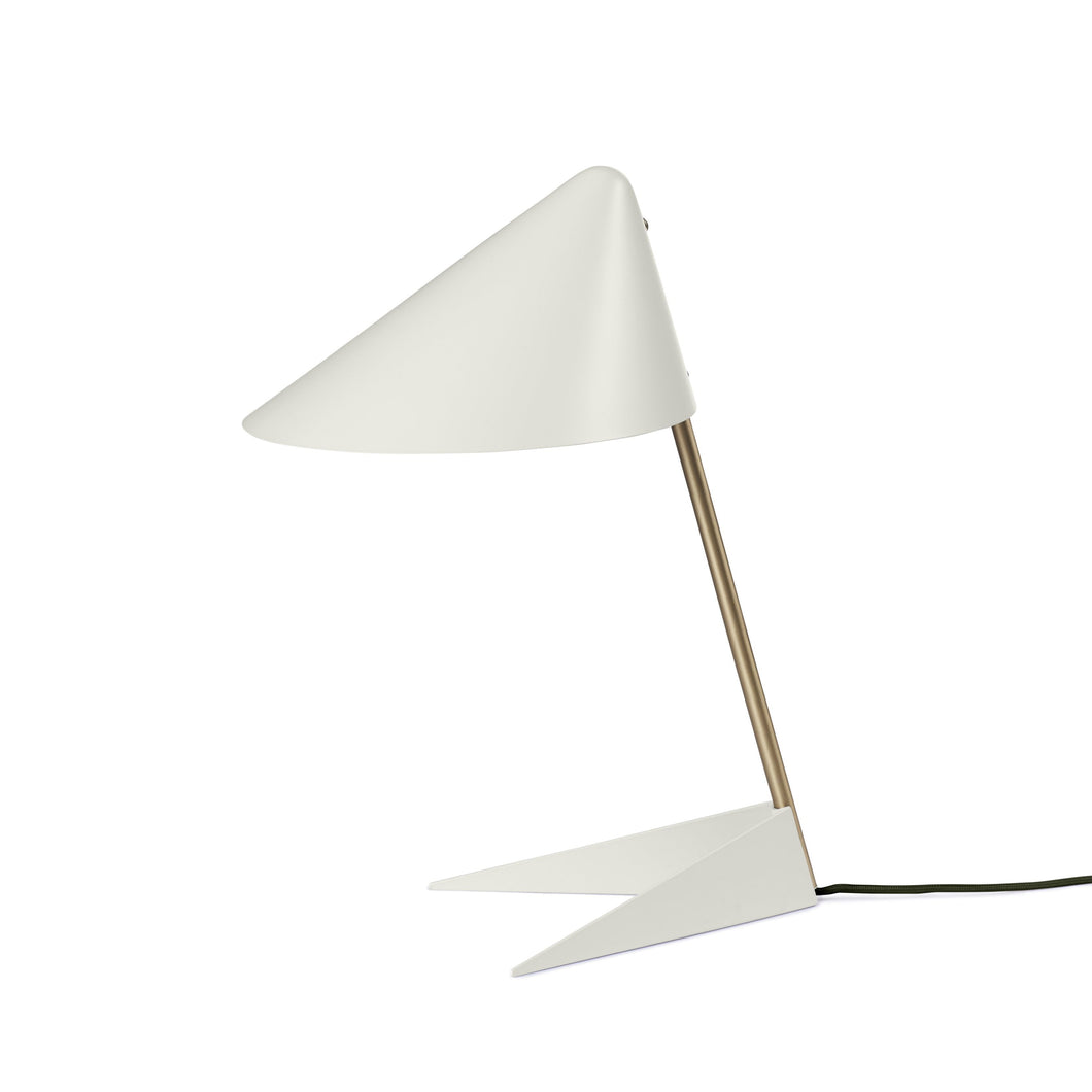Ambience Brass Table Lamp White