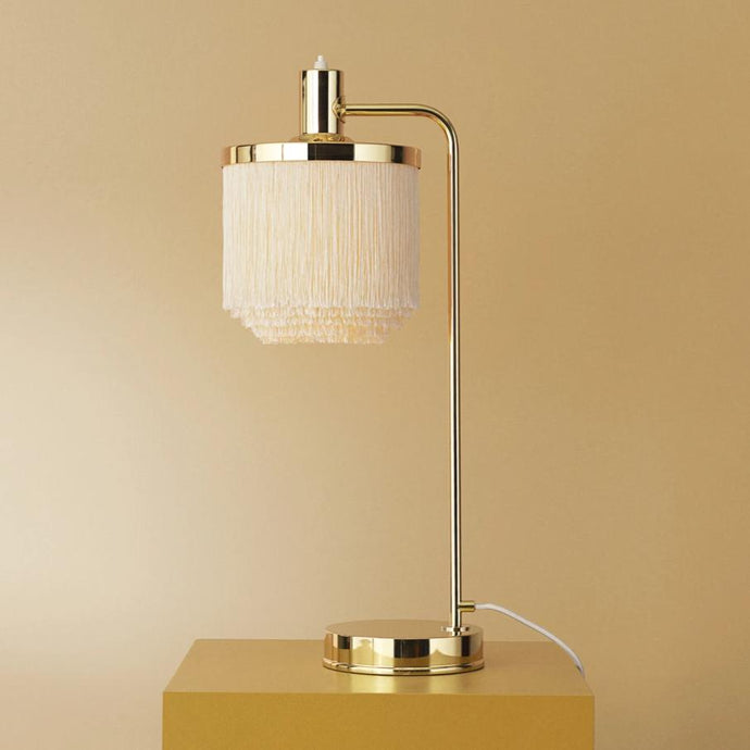 Fringe Table Lamp Cream|White