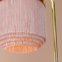 Load image into Gallery viewer, Fringe Table Lamp Pale Pink