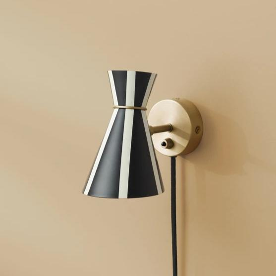 Bloom Black Stripe Wall Lamp