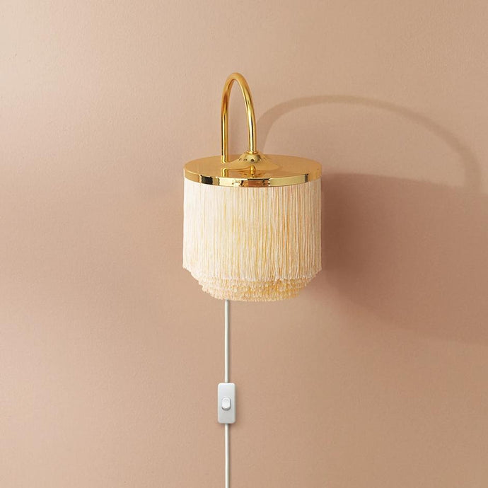 Fringe Wall Lamp Cream|White