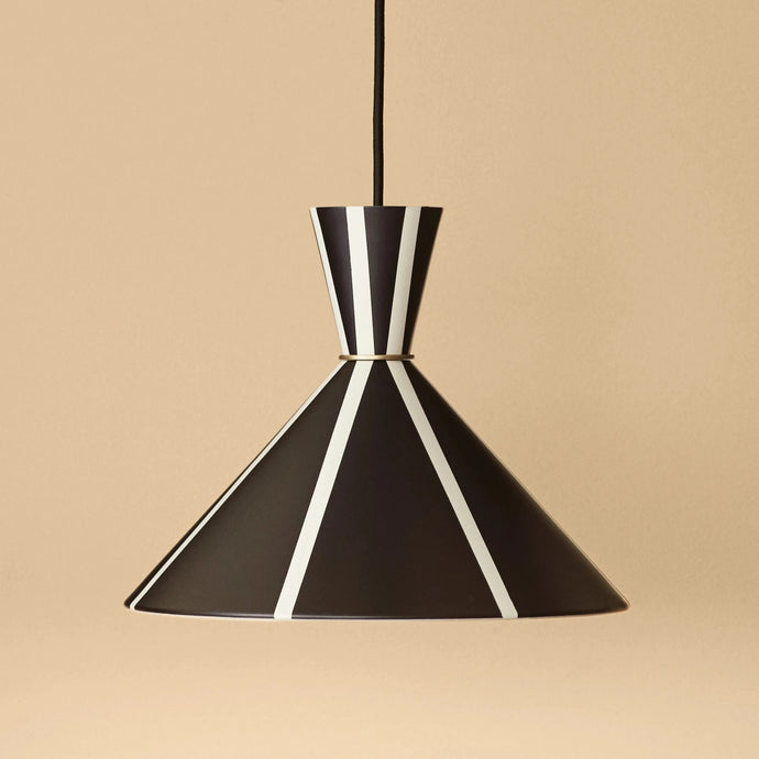 Bloom Black Stripe Pendant