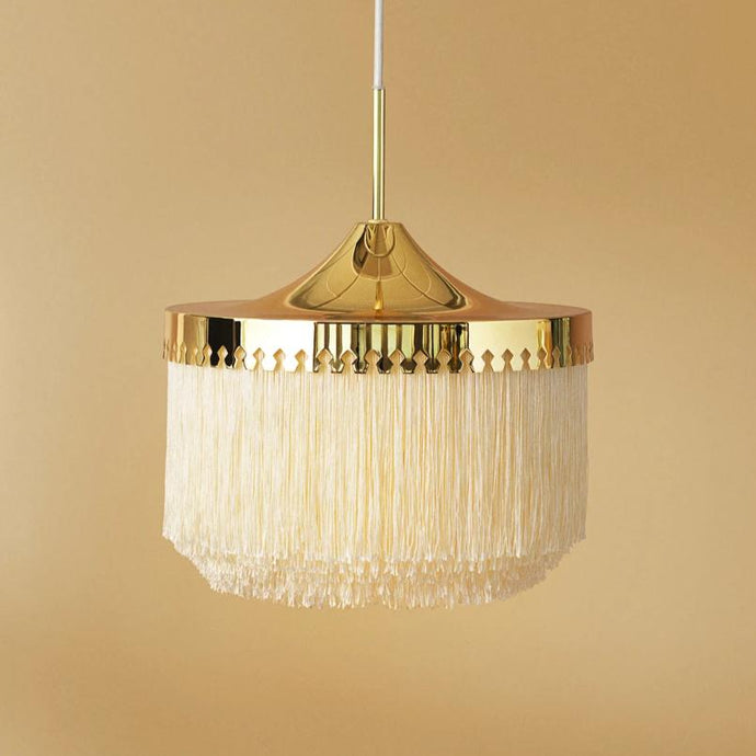 Fringe Pendant Cream|White