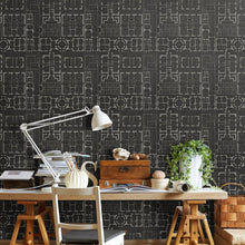 Load image into Gallery viewer, Chateau Anthracite Wallpaper