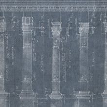 Load image into Gallery viewer, Colonnade Blue Wallpaper