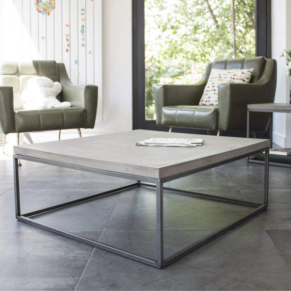 Perspective Square Concrete Coffee Table