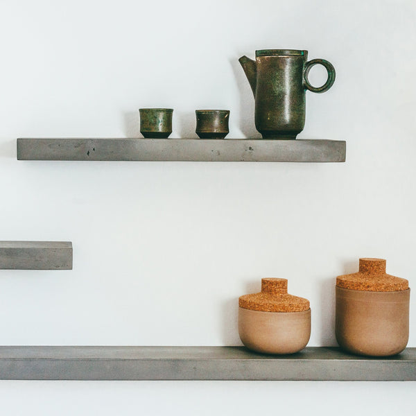 Concrete Slice Floating Shelf