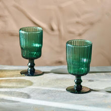 Load image into Gallery viewer, Fali Teal Wine Glasses | Set of 4