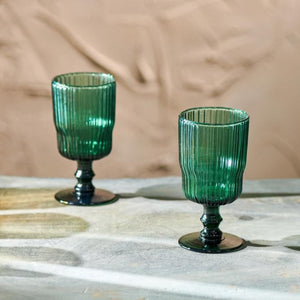Fali Teal Wine Glasses | Set of 4