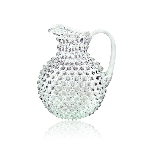 Hobnail Glass Jug | Clear