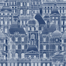 Load image into Gallery viewer, Louvre Blue Wallpaper