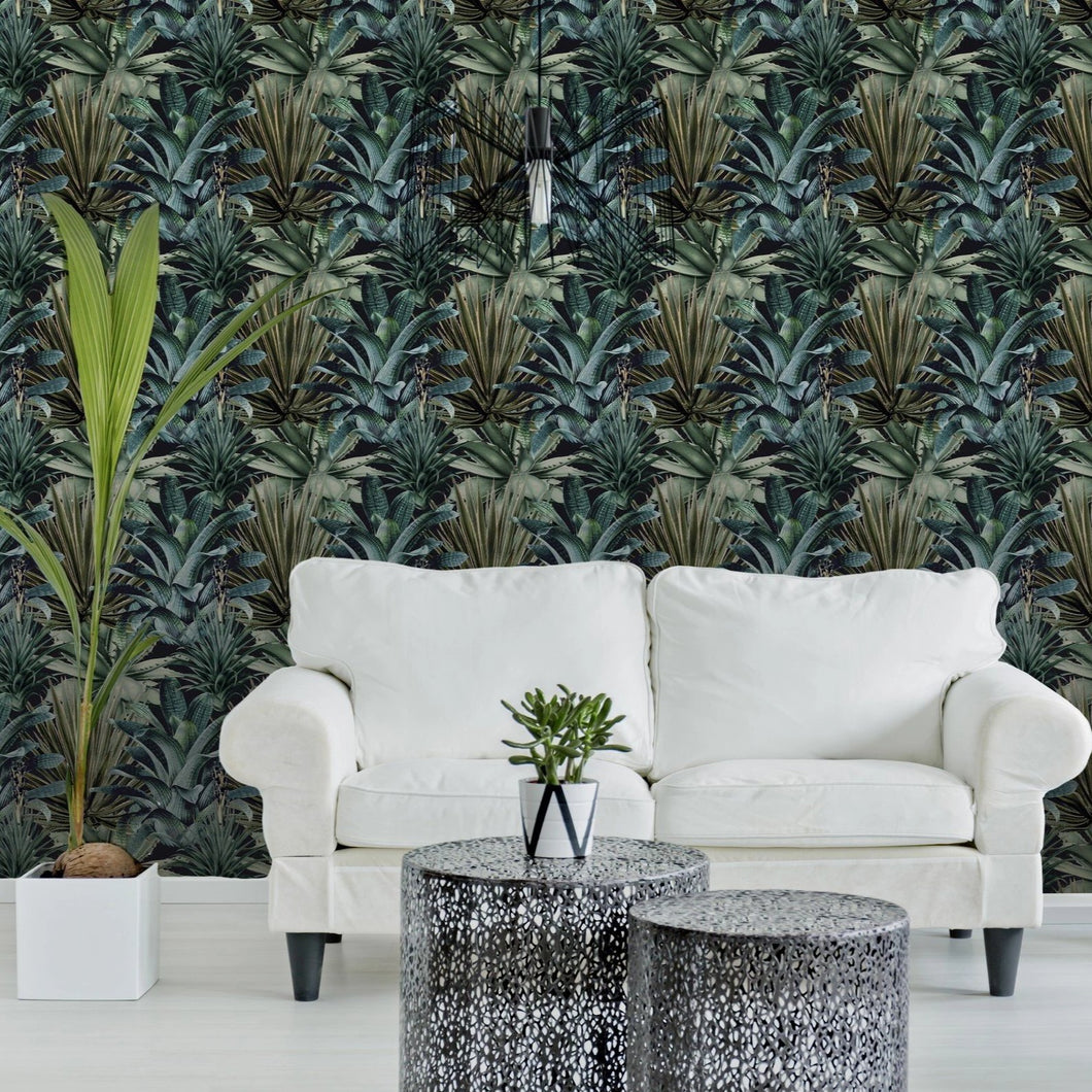 Lush Succulents Wallpaper