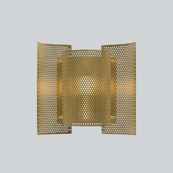 Butterfly Perforated Wall Lamp Brass