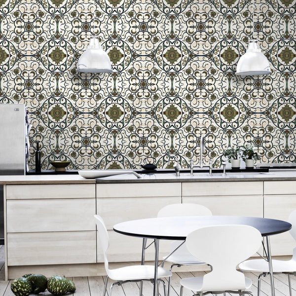 Organic Tile Wallpaper