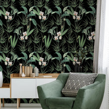 Load image into Gallery viewer, Palm Springs Anthracite Wallpaper
