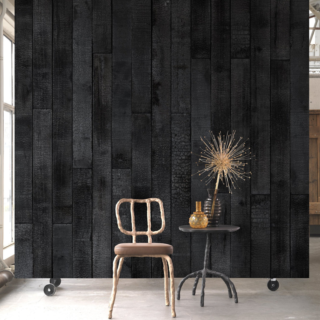 Burnt Wood Wallpaper