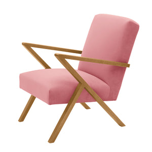 Retrostar Velvet Chair | Light Rose