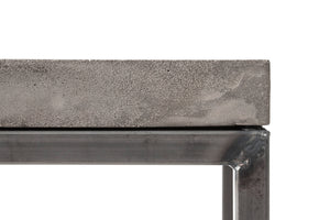 Perspective Concrete Rectangular Coffee Table