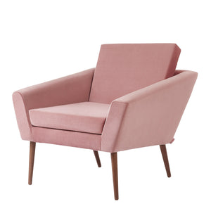 Supernova Velvet Chair | Pink Rose