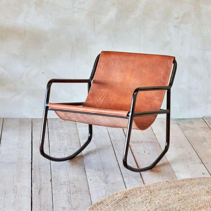 Sagari Leather Rocking Chair