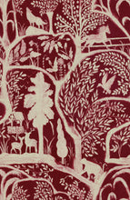 Load image into Gallery viewer, Enchanted Woodland Red Wallpaper