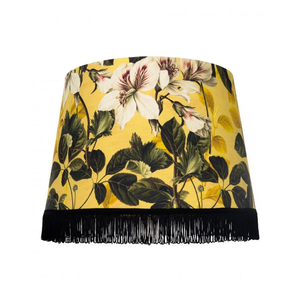Fringed Lampshade | Yellow Garden
