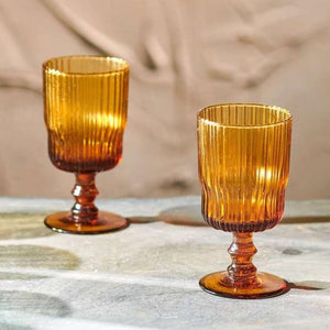 Fali Amber Wine Glasses | Set of 4
