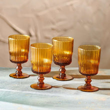 Load image into Gallery viewer, Fali Amber Wine Glasses | Set of 4