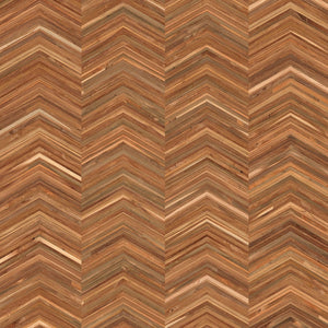 Chevron Teak Timber Wallpaper