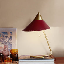 Load image into Gallery viewer, Brass Top Table Lamp Red Grape